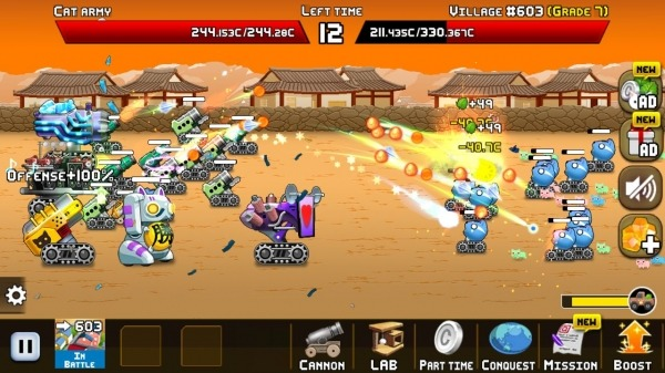 Idle Cat Cannon Android Game Image 3