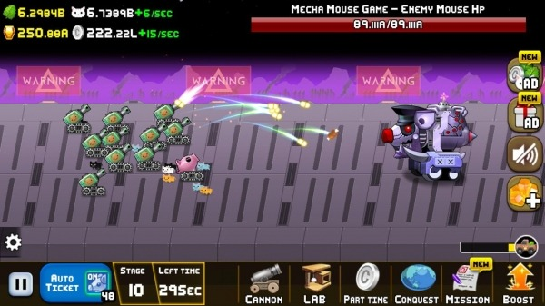 Idle Cat Cannon Android Game Image 4