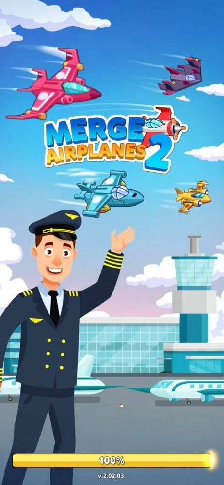 Merge Airplane 2: Plane & Clicker Tycoon Android Game Image 1