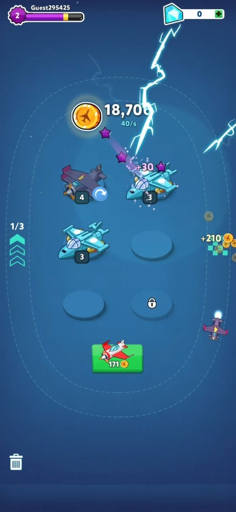 Merge Airplane 2: Plane & Clicker Tycoon Android Game Image 2