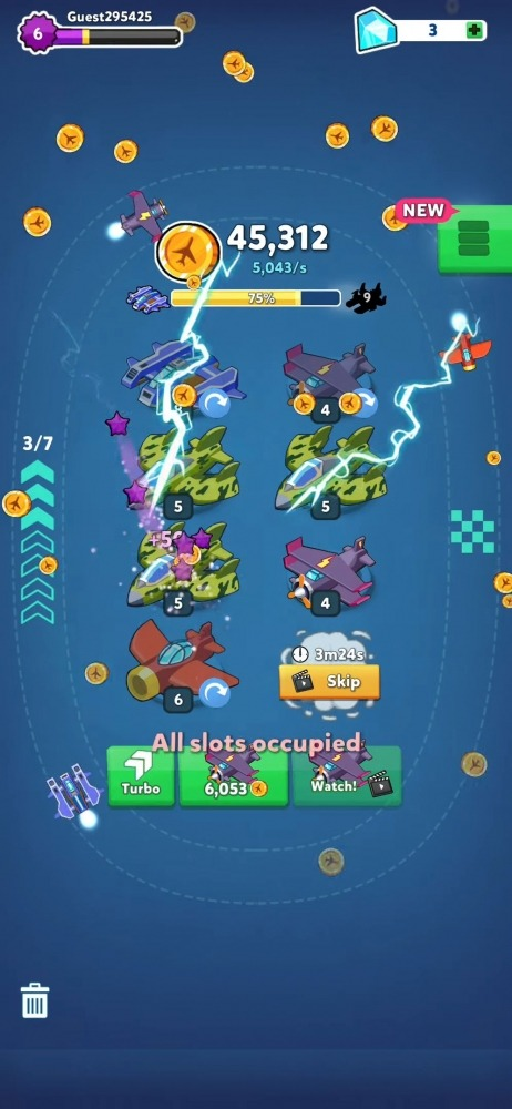 Merge Airplane 2: Plane & Clicker Tycoon Android Game Image 3