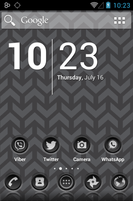 3K SR Black Icon Pack Android Theme Image 1