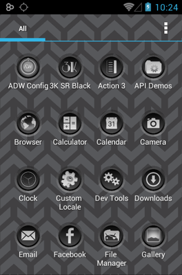 3K SR Black Icon Pack Android Theme Image 2