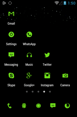 Tiny Green Icon Pack Android Theme Image 2