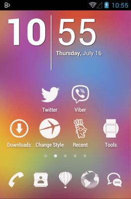 3K MNML White Icon Pack Android Theme Image 1