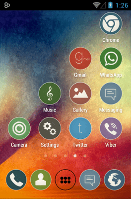 Simple Rounds Lite Icon Pack Android Theme Image 2