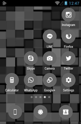 Flatcons Black Icon Pack Android Theme Image 2