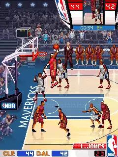 NBA Pro Basketball 2009 Java Game Image 2