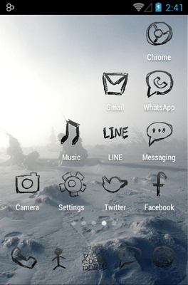Zeon Black Icon Pack Android Theme Image 2