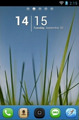 Grass N Sky Go Launcher Android Theme Image 1