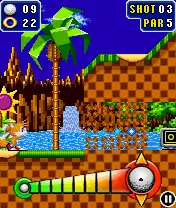 Sonic The Hedgehog: Golf Java Game Image 2