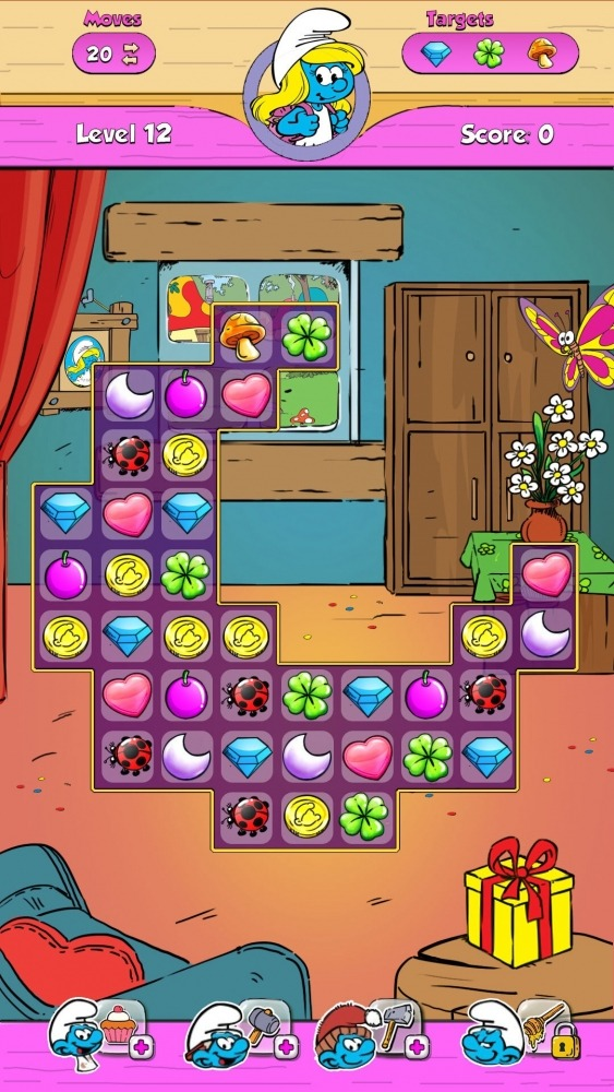 Smurfette's Magic Match Android Game Image 2