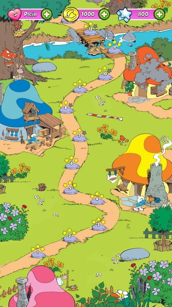 Smurfette's Magic Match Android Game Image 4