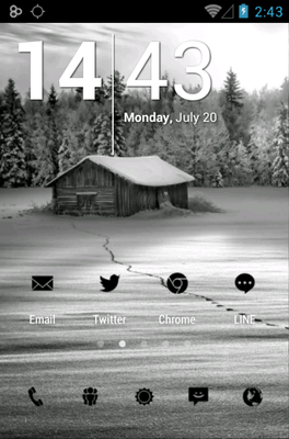 Tiny Black Icon Pack Android Theme Image 1