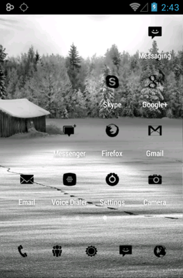 Tiny Black Icon Pack Android Theme Image 3
