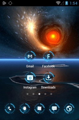 Neon Glow Micro Icon Pack Android Theme Image 2