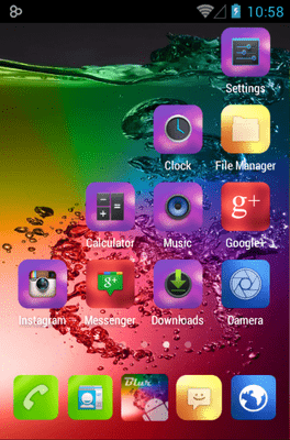 Blur Color Icon Pack Android Theme Image 2
