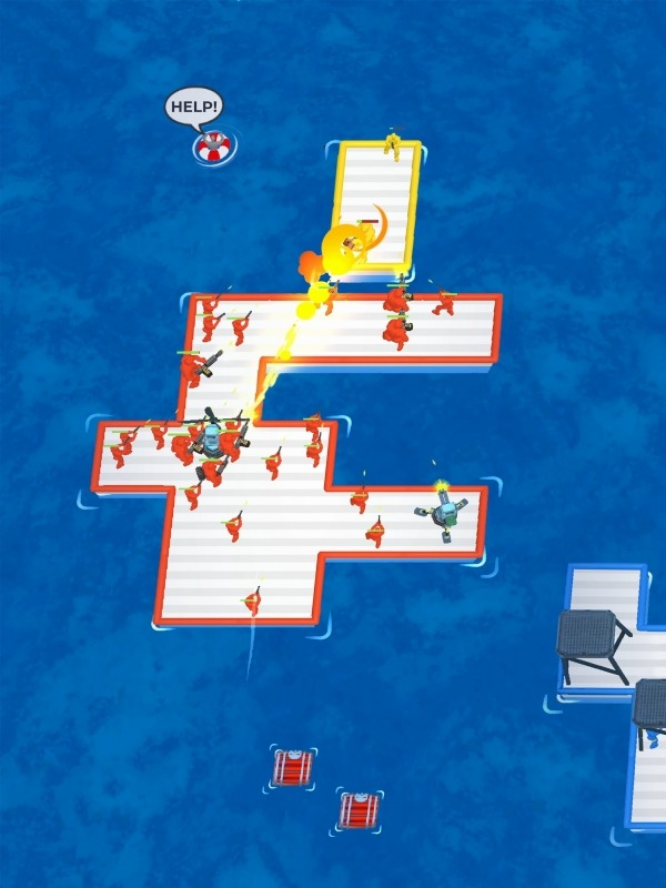 War Of Rafts: Crazy Sea Battle Android Game Image 1