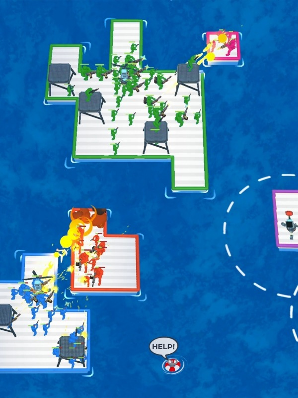 War Of Rafts: Crazy Sea Battle Android Game Image 2