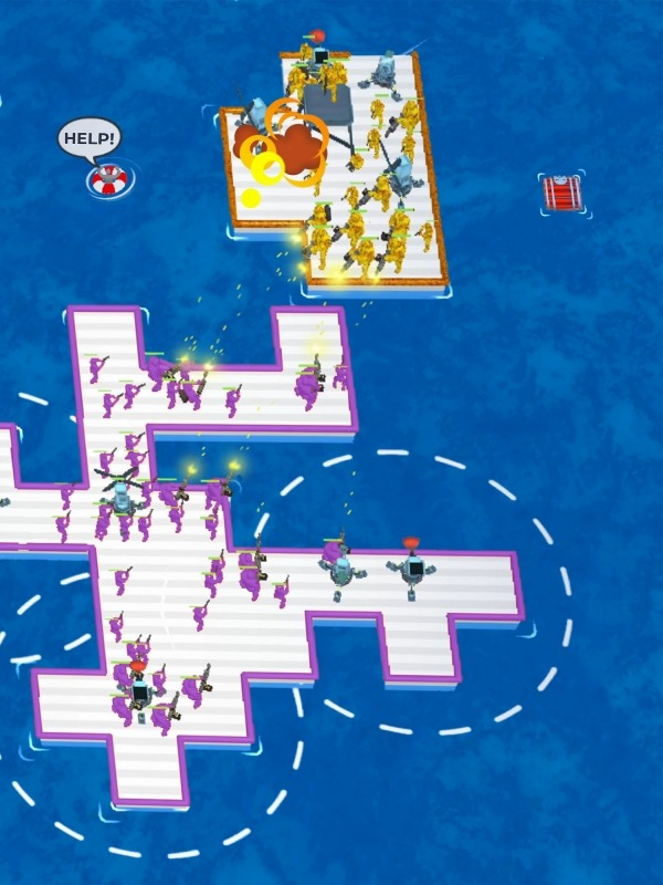 War Of Rafts: Crazy Sea Battle Android Game Image 3