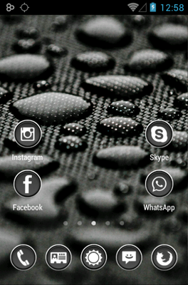 Phoney White Icon Pack Android Theme Image 2