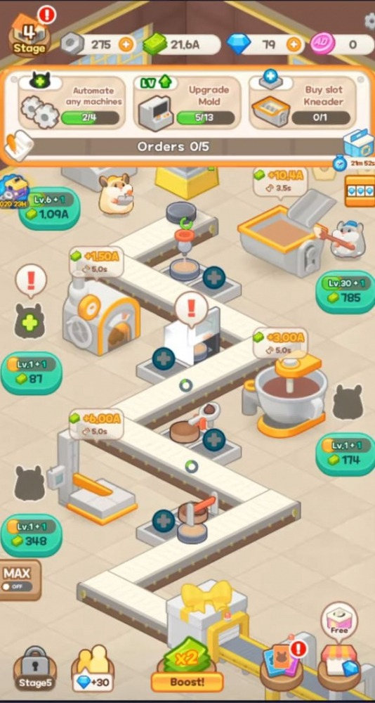 Tycoon Hamster Game - Idle Cheesecake Android Game Image 2