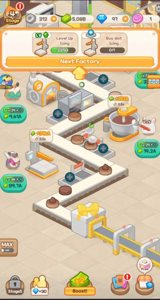 Tycoon Hamster Game - Idle Cheesecake Android Game Image 4