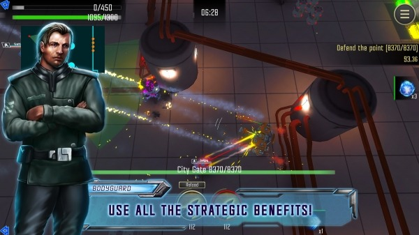 Robot Warrior: Top-down Shooter. Offline Game. Android Game Image 1