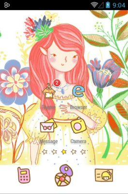 Bora Girl Icon Pack Android Theme Image 1