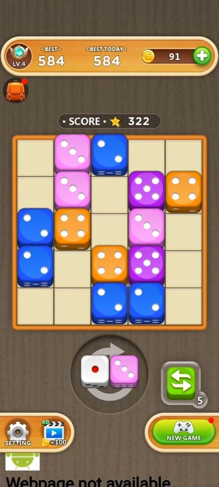 Dice Puzzle - Merge Puzzle Android Game Image 1