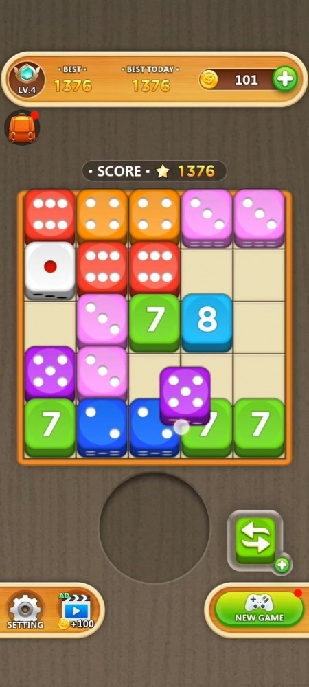 Dice Puzzle - Merge Puzzle Android Game Image 2