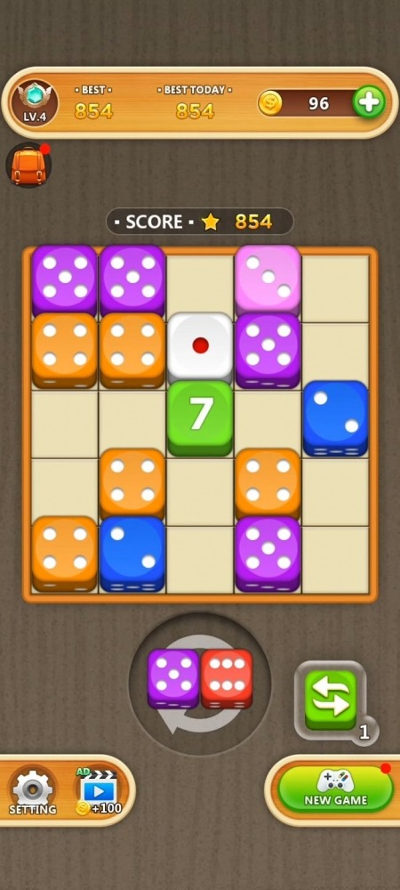 Dice Puzzle - Merge Puzzle Android Game Image 4