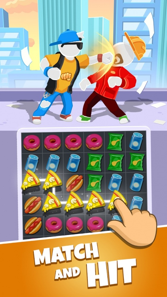 Match Hit - Puzzle Fighter Android Game Image 1