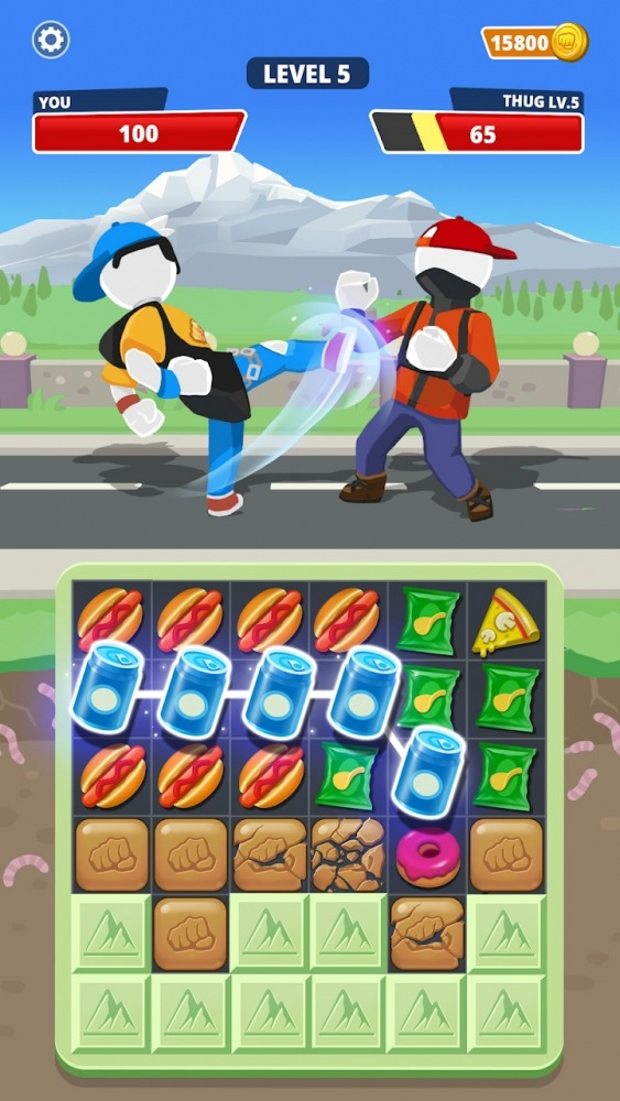 Match Hit - Puzzle Fighter Android Game Image 3