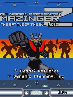 Mazinger: The Battle Of The Superobot Java Game Image 1