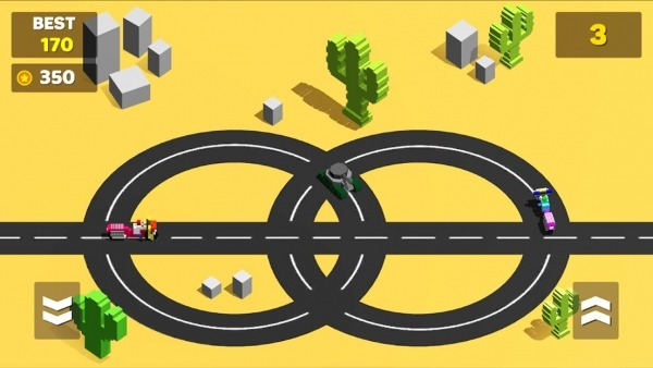 Circle Crash - Blocky Highway Android Game Image 2