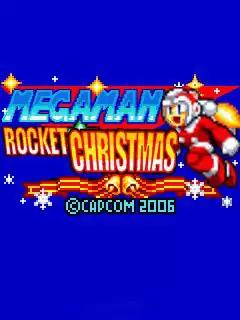 Megaman: Rocket Christmas Java Game Image 1