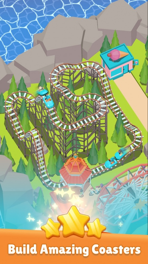 Coaster Builder: Roller Coaster Connect Puzzle Android Game Image 1