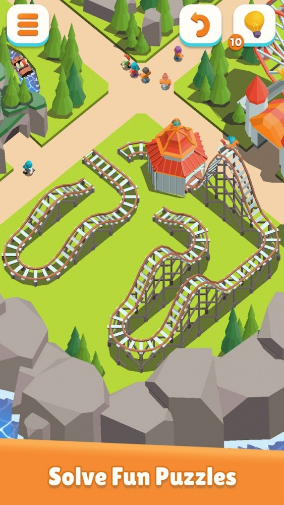 Coaster Builder: Roller Coaster Connect Puzzle Android Game Image 2