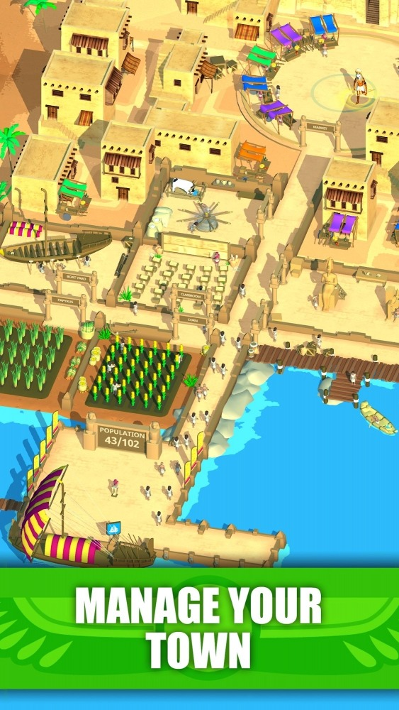 Idle Egypt Tycoon: Empire Game Android Game Image 1