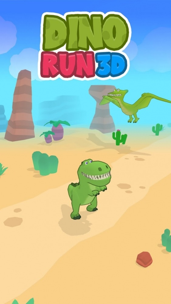 Dino Run 3D Android Game Image 1