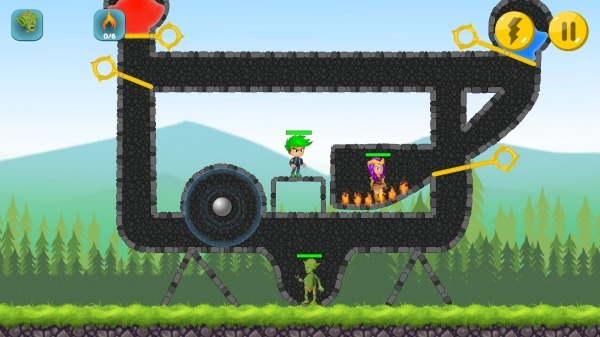 The Actual Game Rescue - Pull The Pin Android Game Image 1