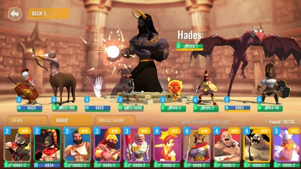 Trojan War 2: Clash Cards Game Android Game Image 2