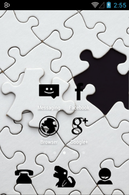 Stamped Black Icon Pack Android Theme Image 2