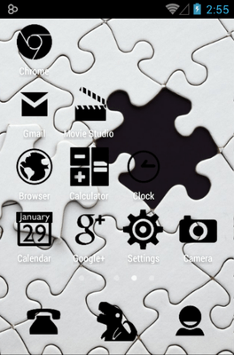 Stamped Black Icon Pack Android Theme Image 3