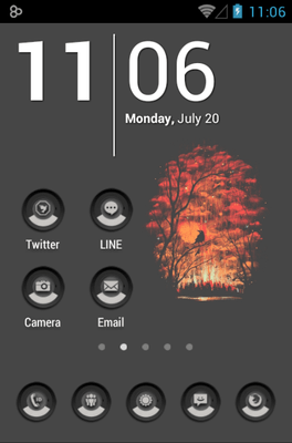 Minimal Gray Icon Pack Android Theme Image 1