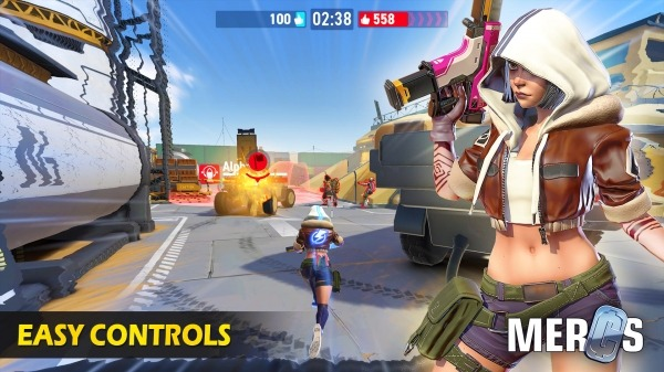 MERCS - Cyber Strike Arena. Multiplayer Shooter! Android Game Image 2