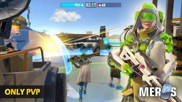 MERCS - Cyber Strike Arena. Multiplayer Shooter! Android Game Image 3