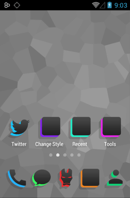 Silhouette Icon Pack Android Theme Image 2