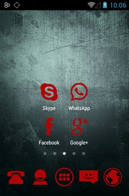 Stamped Red Icon Pack Android Theme Image 2
